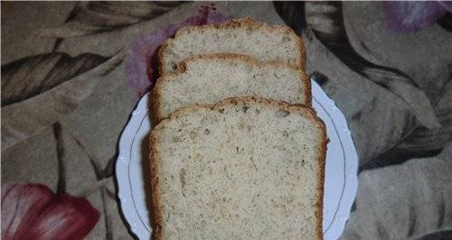 Bread with cheese, dill and bran