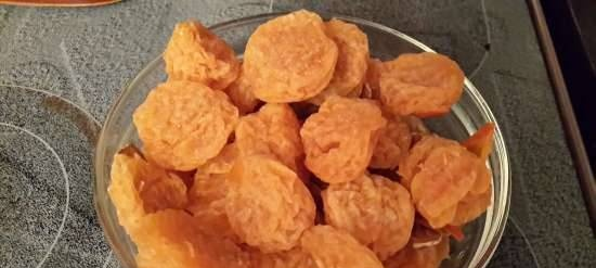 Sun-dried tangerines in sugar syrup