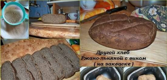 Rye-linseed bread with wine