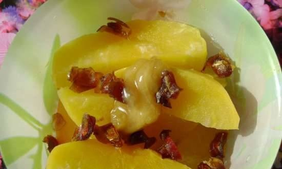 Turnip with dates and honey (simple, tasty, healthy)