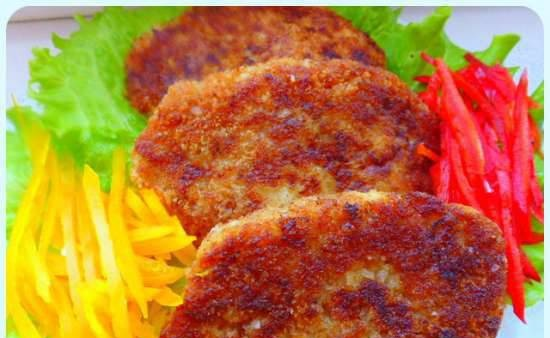 Fish cakes with apple