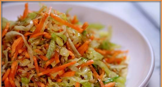 Sprouted wheat salad