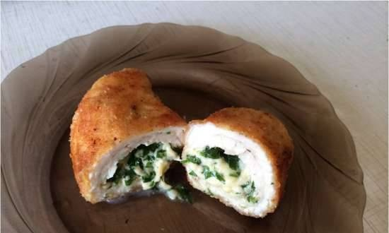 Chicken breasts with cheese filling - slow cooker Mirta MC-2211