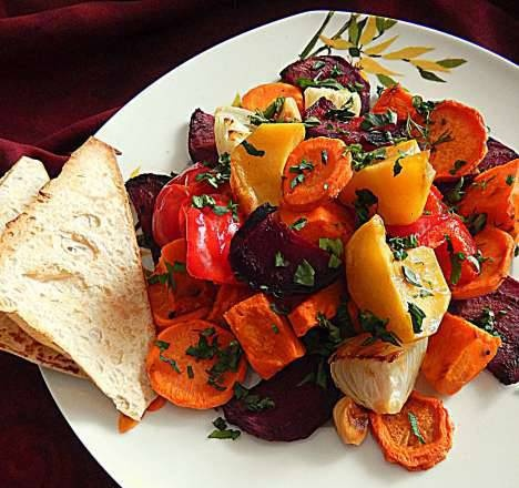 Tangerine-flavored baked vegetables (and another dressing option)