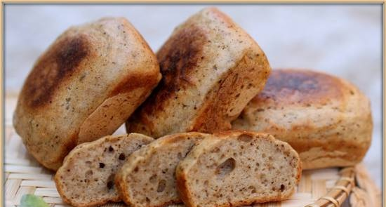 """Portion bread """"Fragrant with herbs"""" from a mixture (Brownie maker Tristar)"""