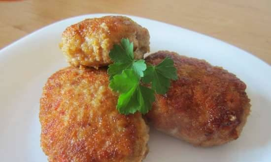 Cutlets with mushrooms