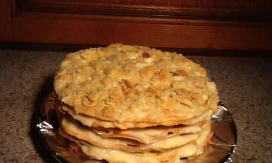 Express baking of Napoleon cake layers using Tortilla Maker and oven