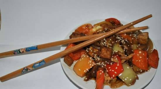 Chinese Tofu with Sweet Pepper