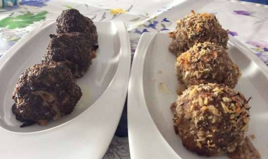 Oven cutlets with two types of breading
