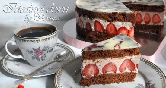 """Cake """"Strawberry in Champagne"""""""