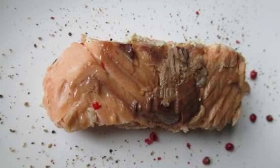 German-style salmon baked in salted dough