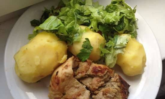 Chicken thighs with mustard and ginger in a multicooker BORK U700