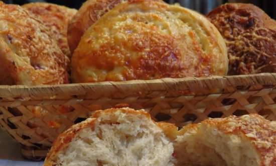 Onion buns with cheese