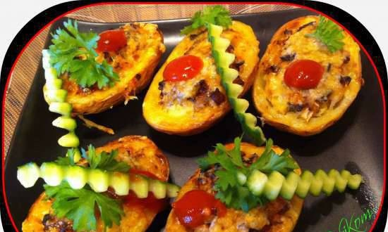 Stuffed Potatoes in the Hotter Fitness Grill