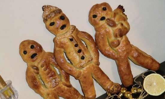 The figurines were made from Stutenkerl and Martinsgans yeast dough