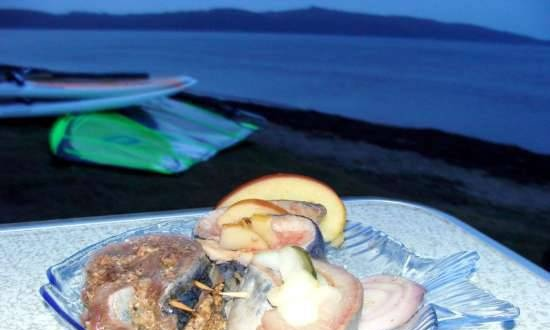 Rollmops (German rolls) - traditional, with apples, with prunes