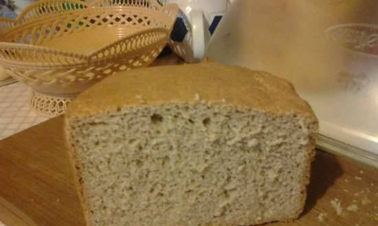 Simple rye-wheat bread without additives (50/50)
