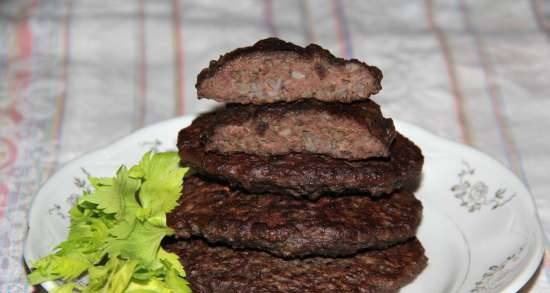 Liver cutlets with buckwheat