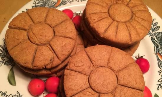 Rye shortbreads in the pizza maker Princess 115000