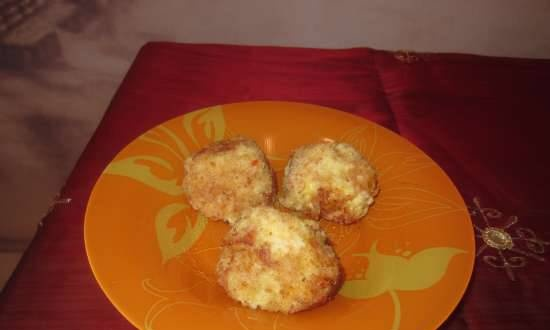 Rice balls with cheese