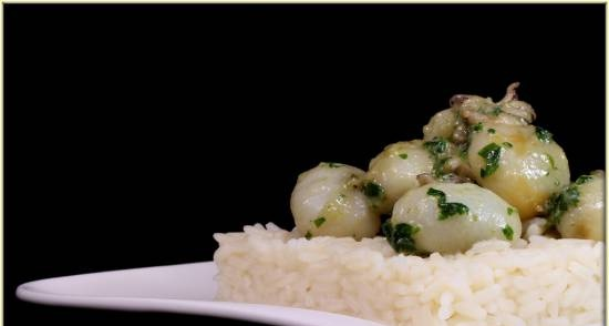 Cuttlefish with rice
