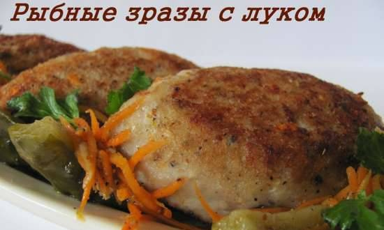 Fish zrazy with onions