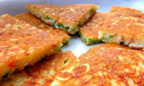 Russian pancakes with baked yeast dough