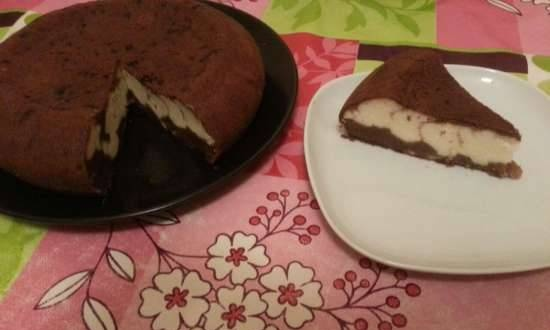 Chocolate cake with curd filling