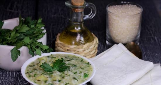Rice soup with herbs (lean)