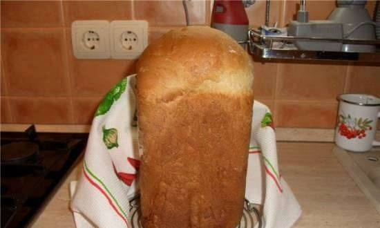Wheat bread with nuts in a bread maker