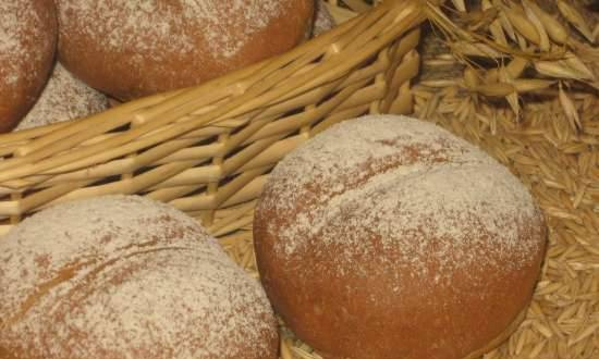 """""""Bread for Joy"""" with oat flour, bran and fireweed / lime """"honey"""" (based on the film """"Bread of Happiness"""")"""