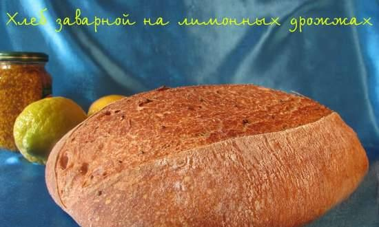 Brewed bread with lemon yeast