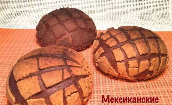 """Mexican buns """"Conchas"""" (shells) with musical accompaniment"""