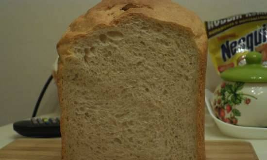 Whole wheat bread with kefir in a bread maker (Panasonic 2502)