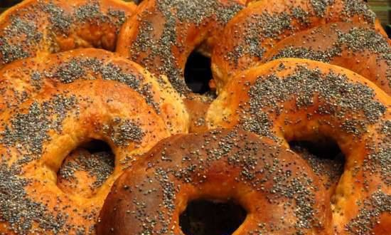 Whole Wheat Bagels with Liquid Yeast