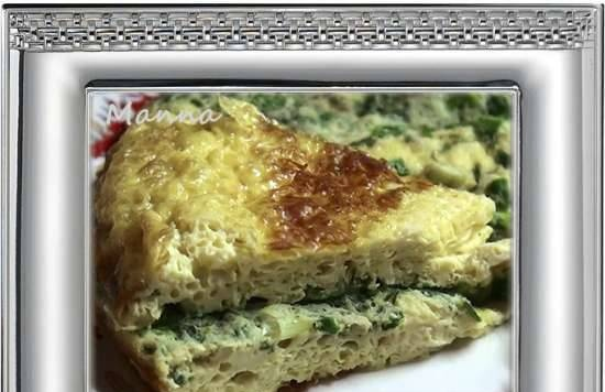 Quail omelette with baked milk (multicooker Philips HD3197)