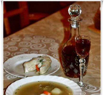 Fish soup with crayfish