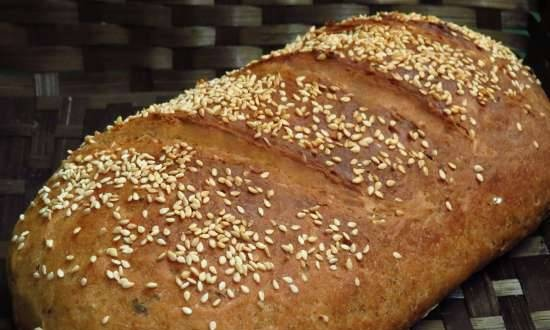 """Brewed aromatic bread with whole-grain flour """"Zakhariy"""""""