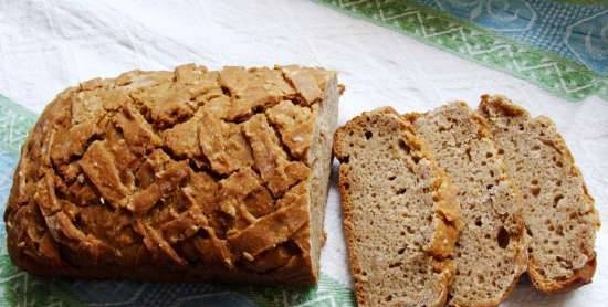 Rye-wheat bread with wheat germ