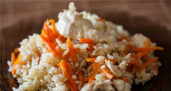 Pilaf with chicken in Oursson 5010 pressure cooker