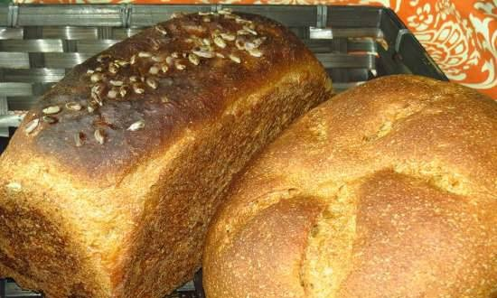 """Rye-wheat bread """"Air"""" with seeds"""