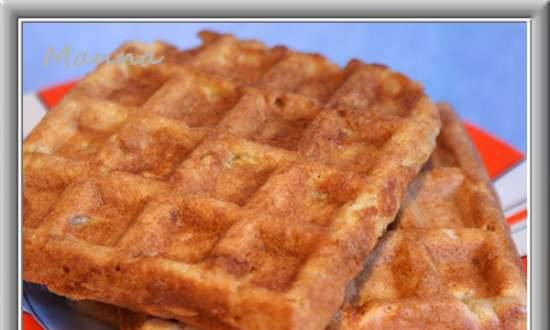 Waffles without eggs with apple (Brand 321 bakery review)