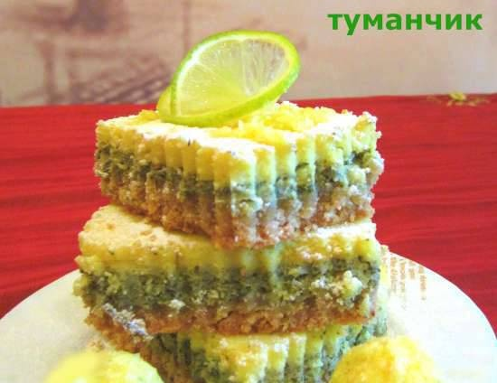 Cakes with mint and citrus