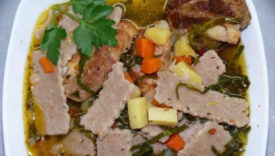 Ashe cabbage (soup with salma and cabbage)