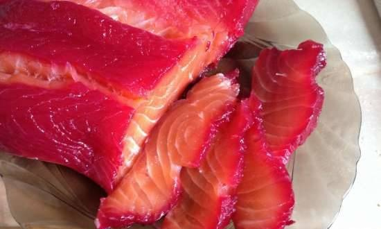 """Red fish in beet juice """"Workshop of the world"""""""