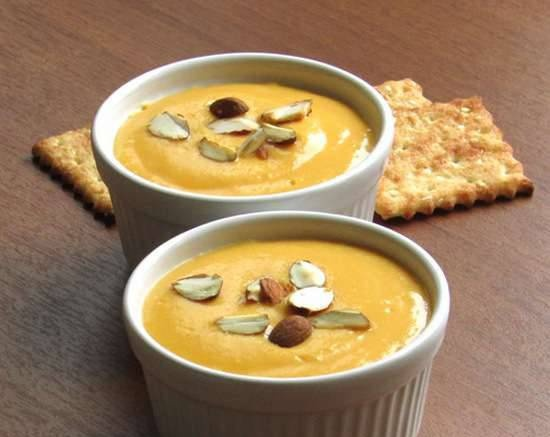 Cold peach and carrot soup