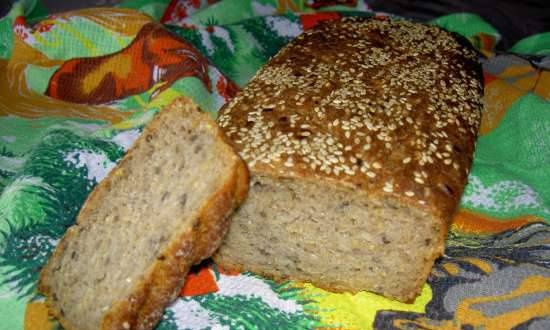 Sourdough rye-wheat bread with healthy additives.