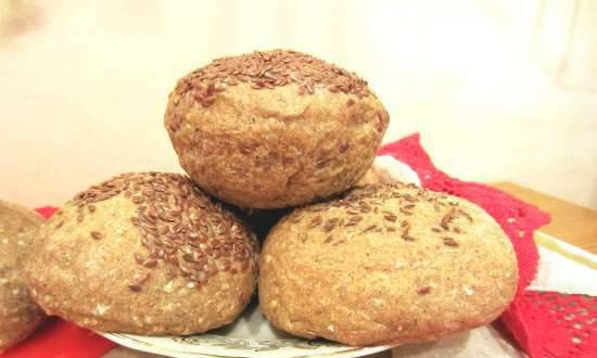 Bread rolls with spices for different tastes (2 cooking options) oven
