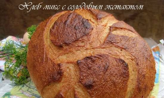 Mixed bread with malt extract