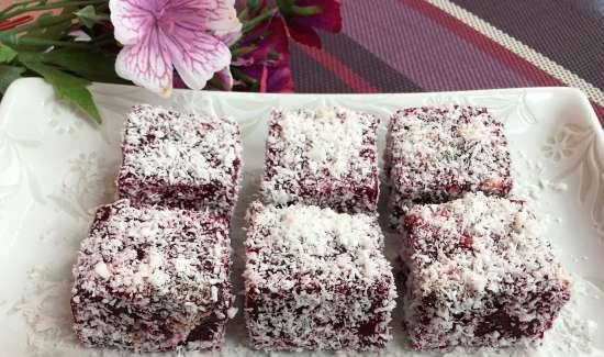 Beet gummies with prunes and nuts - healthy sweets for children and adults